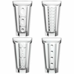 Súprava 4 sklenených pohárikov La Rochère Saga, 60 ml