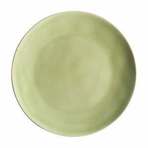 Svetlozelený kameninový tanier Costa Nova Riviera, ⌀ 27 cm
