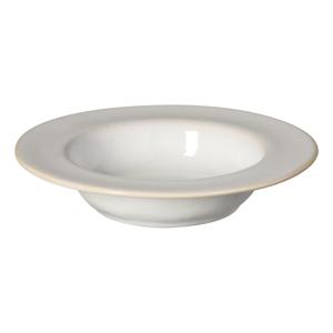 Biely kameninový hlboký tanier s lemom Costa Nova Roda, ⌀ 22 cm