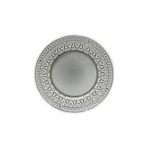 Sivý kameninový dezertný tanier Costa Nova Cristal, ⌀ 22 cm