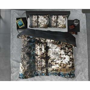 Obliečky na dvojlôžko z bavlneného saténu DH Satin Wild Aluna, 200 x 200/220 cm