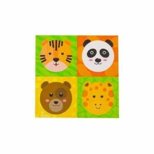 Sada 16 papierových obrúskov GiviItalia Zoo Party, 33 x 33 cm