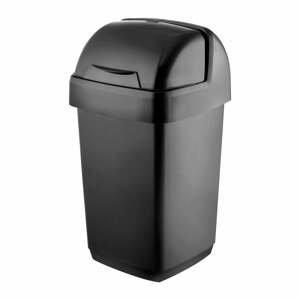 Čierny odpadkový kôš Addis Roll Top, 22,5 x 23 x 42,5 cm