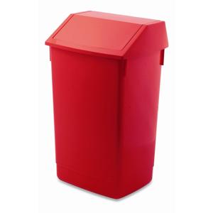 Červený odpadkový kôš s vyklápacím vrchnákom Addis, 41 x 33,5 x 68 cm