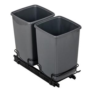 Sada 2 sivých odpadkových košov Addis In-Cupboard Bin, 10 l