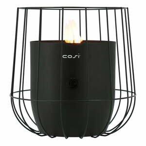 Čierna plynová lampa Cosi Basket, výška 31 cm