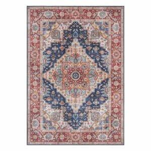 Tmavomodro-červený koberec Nouristan Sylla, 200 x 290 cm