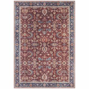 Vínovočervený koberec Nouristan Vivana, 160 x 230 cm