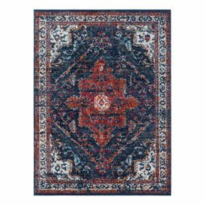 Modro-červený koberec Nouristan Azrow, 160 x 230 cm