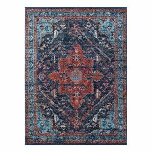 Tmavomodro-červený koberec Nouristan Azrow, 80 x 150 cm