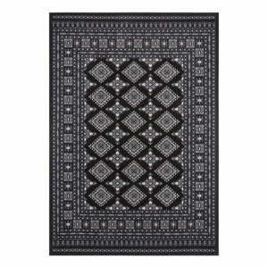 Čierny koberec Nouristan Sao Buchara, 200 x 290 cm