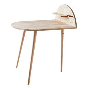 Jedálenský stôl k stene s odkladacou poličkou DEEP Furniture Ted