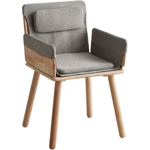 Jedálenská stolička so sivým textilným podsedákom a opierkami DEEP Furniture Jack