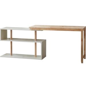 Písací stôl s variabilnými poličkami DEEP Furniture Mallory