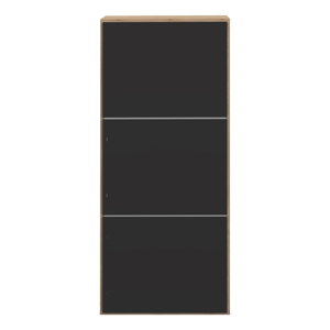 Čierny botník s 6 policami Symbiosis Bamboo