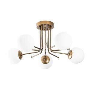 Stropné svietidlo v bielo-zlatej farbe Opviq lights Daisy