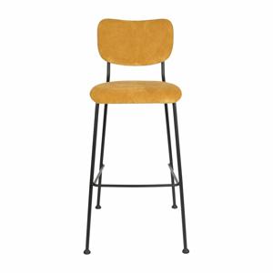 Sada 2 žltých barových stoličiek Zuiver Benson, výška 102,2 cm