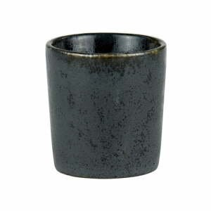 Čierny kameninový kalíšok na vajíčko Bitz Basics Black
