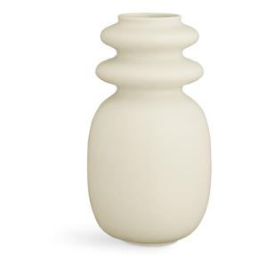 Krémovobiela keramická váza Kähler Design Kontur, výška 29 cm