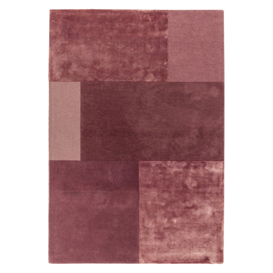 Tmavoružový koberec Asiatic Carpets Tate Tonal Textures, 160 x 230 cm