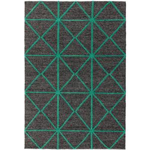 Čierno-zelený koberec Asiatic Carpets Prism, 160 x 230 cm