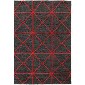 Čierno-červený koberec Asiatic Carpets Prism, 160 x 230 cm