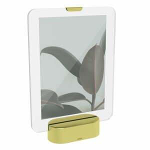 LED rámik na fotografiu so základom v zlatej farbe Umbra Glo, 13 x 18 cm