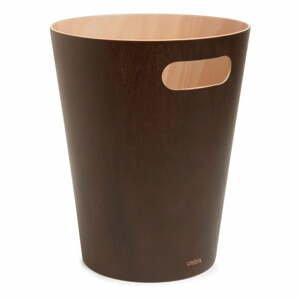 Hnedý odpadkový kôš Umbra Woodrow, 7,5 l