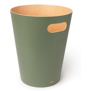 Zelený odpadkový kôš Umbra Woodrow, 7,5 l