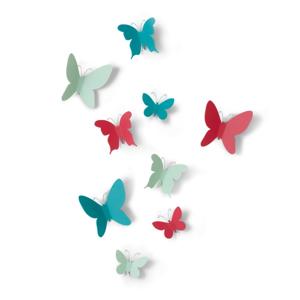 Sada 9 nástenných 3D dekorácií Umbra Butterflies