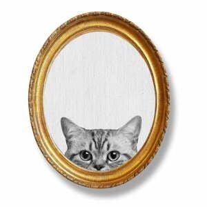 Oválný nástenný obraz v ráme Really Nice Things Cat, 40 x 50 cm