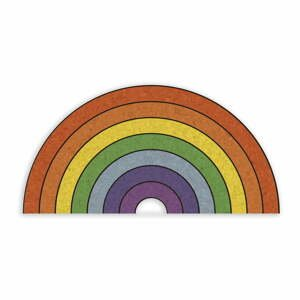 Korková nástenka v tvare dúhy Really Nice Things Rainbow, 70 x 50 cm