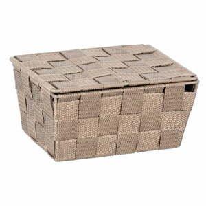 Béžový úložný box s vekom Wenko Adria, 19 x 14 cm