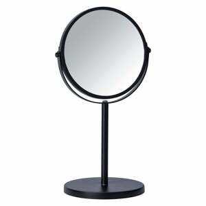 Čierne kozmetické zrkadlo Wenko Assisi, ⌀ 17 cm