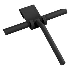 Čierna silikónová kúpeľňová stierka Wenko Squeegee Mola