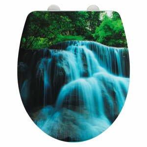 Toaletná doska s jednoduchým zatváraním Wenko Waterfall