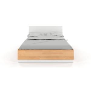 Dvojlôžková posteľ s úložným priestorom z bukového a borovicového dreva SKANDICA Finn BC, 200 x 200 cm