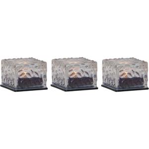 Súprava 3 vonkajších solárnych sviečok Best Season Candle Icecube