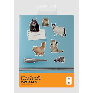 Sada 5 magnetiek Just Mustard Fat Cat