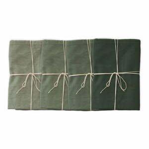 Sada 4 látkových obrúskov s prímesou ľanu Linen Couture Green, 43 x 43 cm