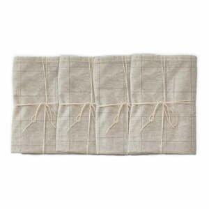 Sada 4 látkových obrúskov s prímesou ľanu Linen Couture Grey Lines, 43 x 43 cm