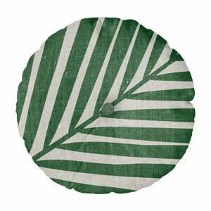 Vankúš Linen Couture Cojin Redondo Palm, ⌀45cm