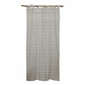 Sivý záves Linen Couture Cuture Cortina Hogar Grey Vichy