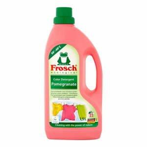 Prací gél na farebné prádlo Frosch s vôňou granátového jablka, 1,5 l (22 praní)