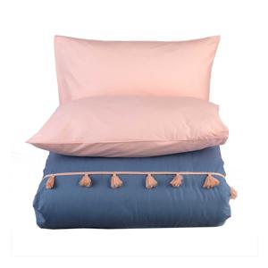 Sada modrej obliečky na dvojlôžko Bella Maison Tanora, 200 x 220 cm