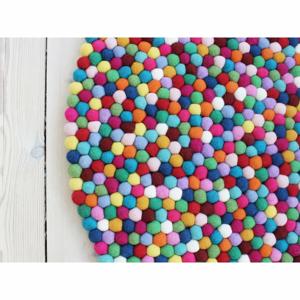 Guľôčkový vlnený koberec Wooldot Ball rugs Multi, ⌀ 140 cm