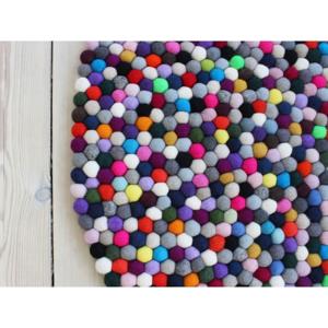 Guľôčkový vlnený koberec Wooldot Ball rugs Multi Pang, ⌀ 90 cm