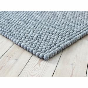 Oceľovosivý guľôčkový vlnený koberec Wooldot Ball rugs, ⌀ 100 x 150 cm