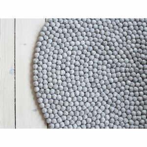 Pieskovohnedý guľôčkový vlnený koberec Wooldot Ball rugs, ⌀ 120 cm