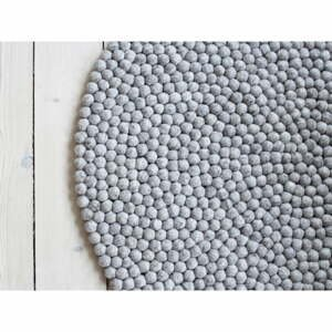 Pieskovohnedý guľôčkový vlnený koberec Wooldot Ball rugs, ⌀ 140 cm